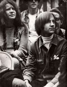Monkee Peter Tork and Janis Joplin, Monterey Pop, 1967.  Some today seem to think the Monkees, because they were essentially cast to play a rock band for a TV show, were posers who were not accepted as peers by other musicians.  They are wrong.  The Monkees did not perform at Monterey but Tork and drummer/singer Mickey Dolenz attended and there are numerous photos of them interacting with all the big stars.  They may have come together in a purely commercial way, but the Monkees were not a…