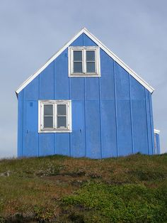 blue house in Greenland