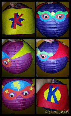DIY Superhero lanterns