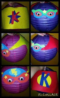 DIY Superhero lanterns