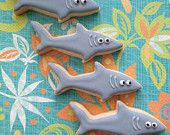 Mini Shark Sugar Cookies - 2 Dozen