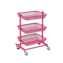 rolling carts for office. Cre8ted Space Rolling Cart With Mesh Baskets, Pink Carts For Office E