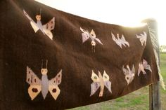 Vintage 1970s Butterflies Mexican Zapotec Handwoven by Vdingy, $135.00
