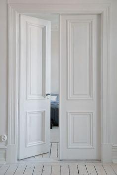 I love double doors going into the master bedroomthese doors I