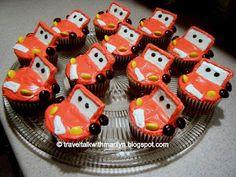Lightning McQueen Cupcakes! http://traveltalkwithmarilyn.blogspot.ca/2011/10/disneys-lightning-mcqueen-cupcakes.html