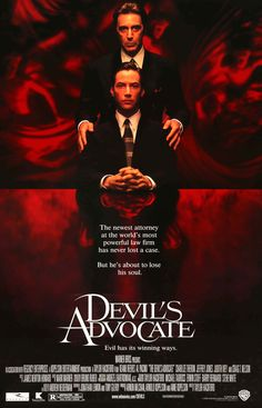 "Film: The Devil's Advocate (1997) Year poster printed: 1997 Country: USA Size: 27""x 40"" This is an original, unfolded movie poster from 1997 for The Devil's Advocate starring Keanu Reeves, Al Pacino,"
