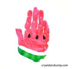 w est pour l'art d'impression pastèque à main pour enfants d'âge préscolaire
