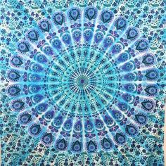 Lightweight purple and pink Mandala / Medallion tapestry made from 100% cotton fabric. Instantly transform your room, dorm or apartment with this cost effective and versatile tapestry. Use it as a bed