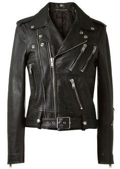 New Women Black 100% Genuine Lambskin Leather Biker Jacket Size 2 -16 Sale  #Creer #Motorcycle