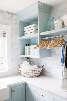 "Outstanding ""laundry room storage diy shelves"" detail is offered on our web pages. Read more and you wont be sorry you did. Laundry Room Tile, Farmhouse Laundry Room, Laundry Closet, Laundry Room Organization, Small Laundry, Laundry Room Design, Organization Ideas, Storage Ideas, Laundry Room Colors"