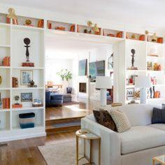 Built in wall shelves for decoration | Photo by Amy Bartlam. Design by Jenn Feldman.