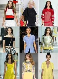 Top Spring Trends, Gingham, Yellow, Athletic