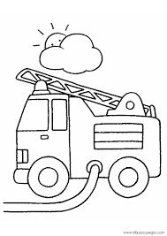 Resultado de imagen de camion de bomberos colorear
