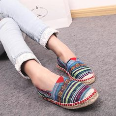 Womens Comfort Oxfords Espadrilles Loafer Moccasin Breathable Canvas Shoes #Other #Espadrilles