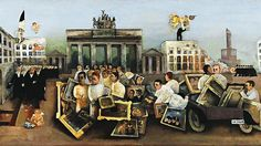 "The ""Mad Square"" by Felix Nussbaum (1931). Oil on canvas."