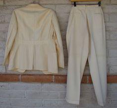 20s 30s Palm Beach Suit Belt Back Jacket Button Fly Pants