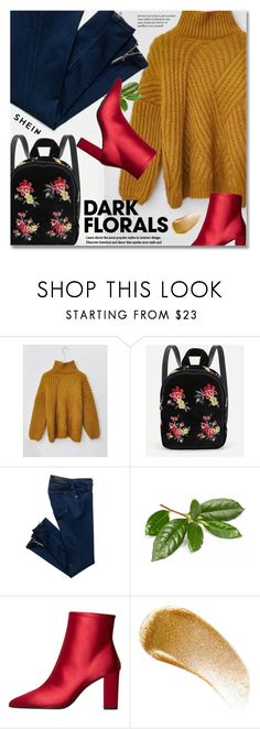 """Winter Prints: Dark Florals"" by svijetlana ❤ liked on Polyvore featuring MANGO, BBrowBar, darkflorals and shein"