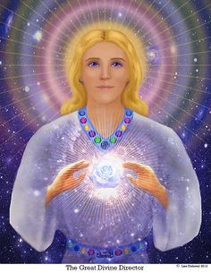 """The Great Divine Director is known as """"The Initiator of Cycles,"""" holding the office of Solar Hierarch of Capricorn. Focusing the ray of God-power, you can ask him for help when starting a new venture or project. He is a master planner with the discipline necessary to create the structures that compose our cosmos—even at molecular levels."""