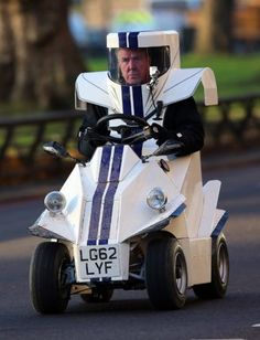 Jeremy Clarkson spotted driving around Mayfair in strange looking car, filming a series of 'Top Gear' in London.