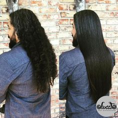 Men with long curly hair can truly benefit from The FIRST Smoothing Shampoo! Just take a look at this before & after by stylist Naylan Alvarez from Salon Resta in Delray Beach, FL.