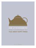 Tea Poster Green Prints by  NaxArt