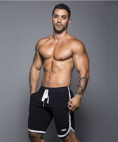 Arad Winwin, actor by Andrew Christian: Vibe training shorts.