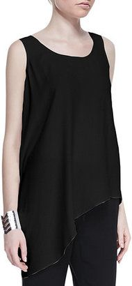 Shop Now - >  https://api.shopstyle.com/action/apiVisitRetailer?id=538912153&pid=uid6996-25233114-59 Eileen Fisher Silk Asymmetric Draped Shell  ...