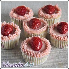 Cupcakes de fresas con buttercream de cheese cake