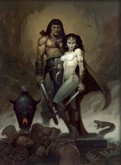 Brom ~ Queen of the Black Coast ~ tribute to Frank Frazetta