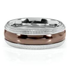 Mens Chocolate Diamond Wedding Rings