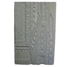 Architectural Fiberglass Pannel  USA  circa 1960's  White relief wall hanging made of fiberglass from the 1970's. Various patterns and designs combine to make an Art Deco meets Egyptian wall sculpture. It may be hung vertical or horizontal.  This piece is a statement.