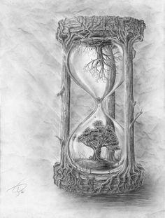 Time tattoo design