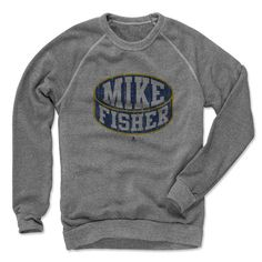 Mike Fisher Puck B Nashville Officially Licensed NHLPA Men's Crew Sweatshirt S-2XL