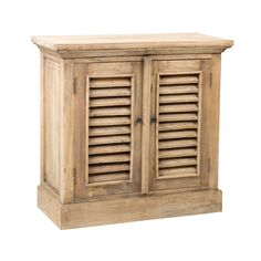 Crafted Home The Oakley Shutter Cabinet two doors (Oakley-307), Tan