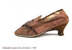 1784 copper color silk shoes
