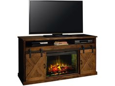 "Legends Furniture Farmhouse 66"" Fireplace Console AWY FH5110.AWY"