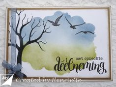 Deepest Sympathy, Gelli Plate Printing, Bird Cards, Marianne Design, Scrapbook Sketches, Watercolor Cards, Sympathy Cards, Merry And Bright, Cardmaking