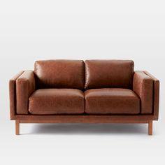 Dekalb Leather Loveseat | west elm