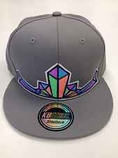 Gray Crystal Snap Back Hat, Disco Biscuits, Phish, STS9, Pretty Lights