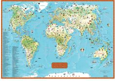 Need A Bright Colored Easy To Read Primary Level World Map Get - Easy to read world map