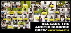 WE STAND WITH THE ARCTIC SUNRISE #savethearctic