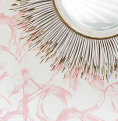 We are so excited to share a sneak peek of our wallpaper that will be   launching very soon!Our iconic brushstroke pattern will bring soft movement   to any space, printed on clay-coated paper & made in the beautiful USA!   www.janabek.com