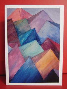 Handmade Card Any Occasion with Abstract house top design
