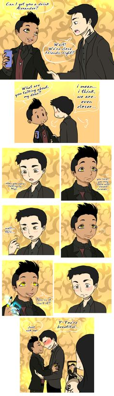 Warlock's mark (Malec comic by umkasandiary)(Alec, Magnus, Mortal Instruments, Shadowhunters)