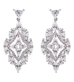 CARAT LONDON - Antoinette solitaire chandelier earrings | Selfridges.com