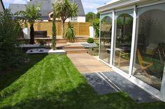 Terrasse bois terrasse pierre | Arbor Minéral Vannes Morbihan Sidewalk, Image, Gardens, Terrace Garden, Landscape Planner, Side Walkway, Walkway, Walkways, Pavement