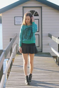The Orphan's Arms Sweatshirt, Chicwish Skirt
