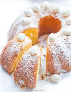 Babka wielkanocna Tea Time, Panna Cotta, Easter, Sugar, Ethnic Recipes, Food, Kitchen, Cuisine, Kitchens
