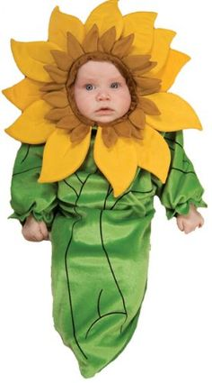 Baby Sunflower Costume, Our Baby Sunflower Costume features a soft, one-piece bunting with fabric fastener on back and a sunflower headpiece., #Apparel, #Unisex, $19.99