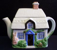 Vintage Price Old Tyme Looking Cottage / House Shaped Teapot picclick.com